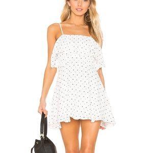 superdown Evita Layered Dress in White Star